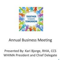 WHIMA 2021 Business Meeting